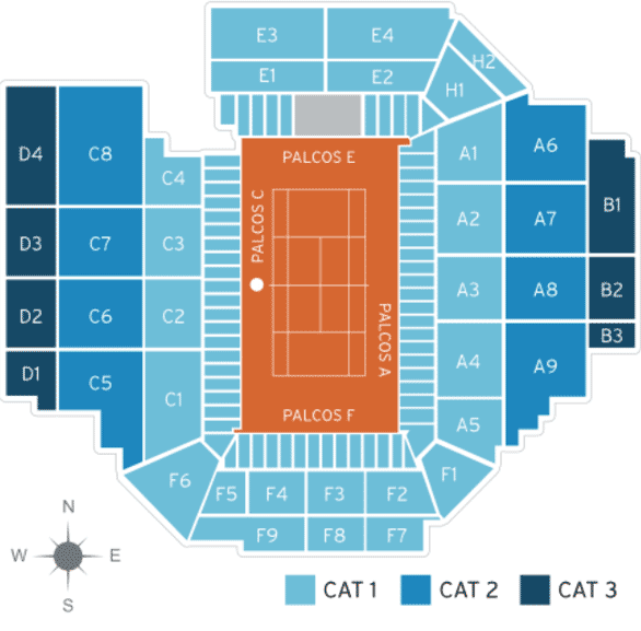 Barcelona Open Seating Map